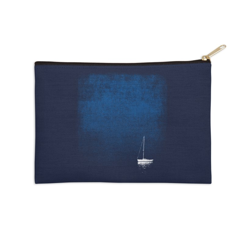 Dream Blue Accessories Zip Pouch by bulo