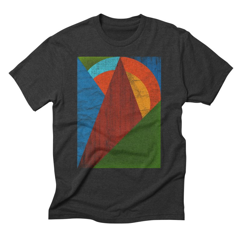 Sunrise in Men's Triblend T-Shirt Heather Onyx by bulo