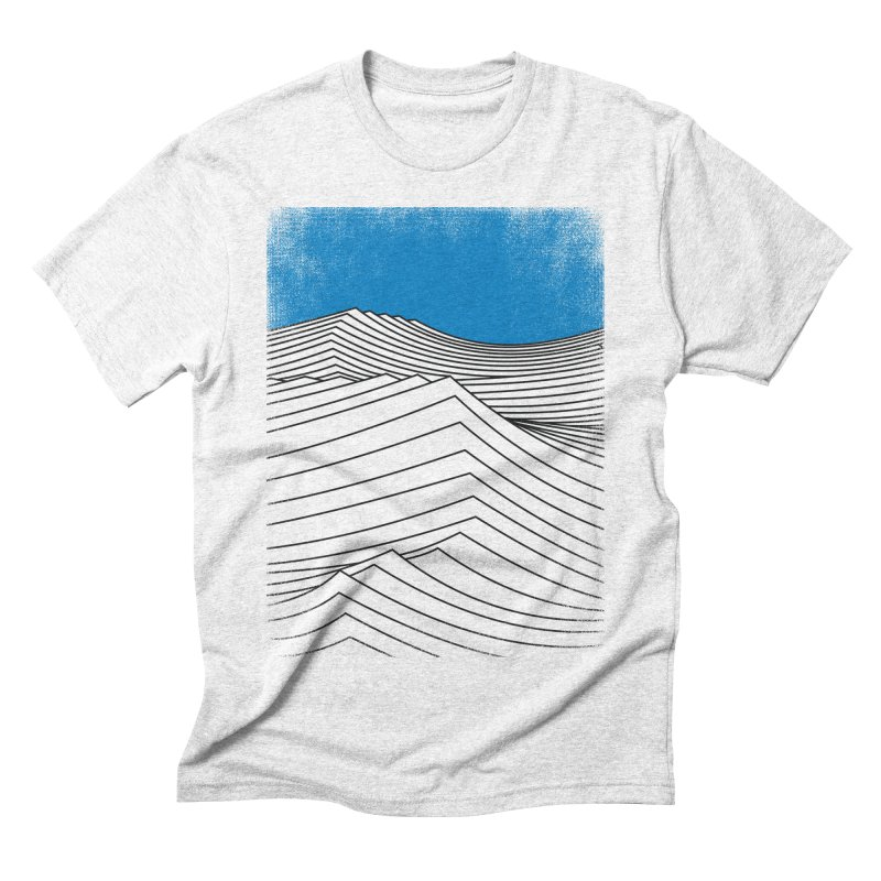 Waves in Men's Triblend T-shirt Heather White by bulo