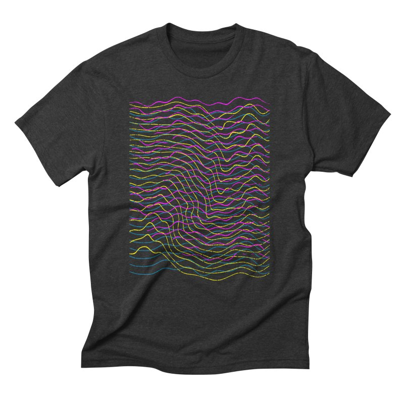 Undulation in Men's Triblend T-Shirt Heather Onyx by bulo