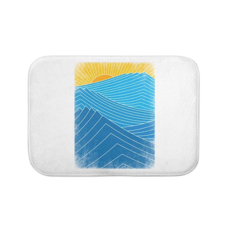 Waves Home Bath Mat by bulo