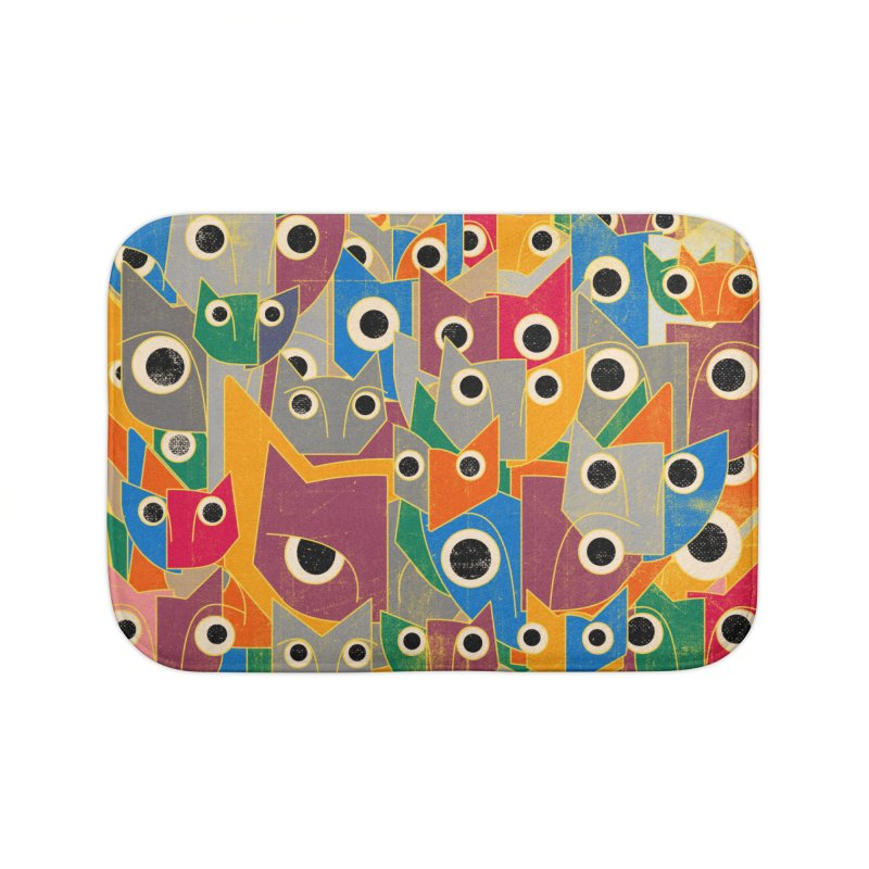 Cubicats (special edition) Home Bath Mat by bulo