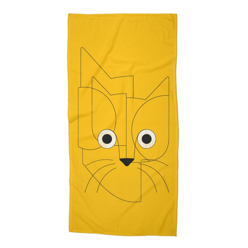 Curious Cat Accessories Beach Towel by bulo