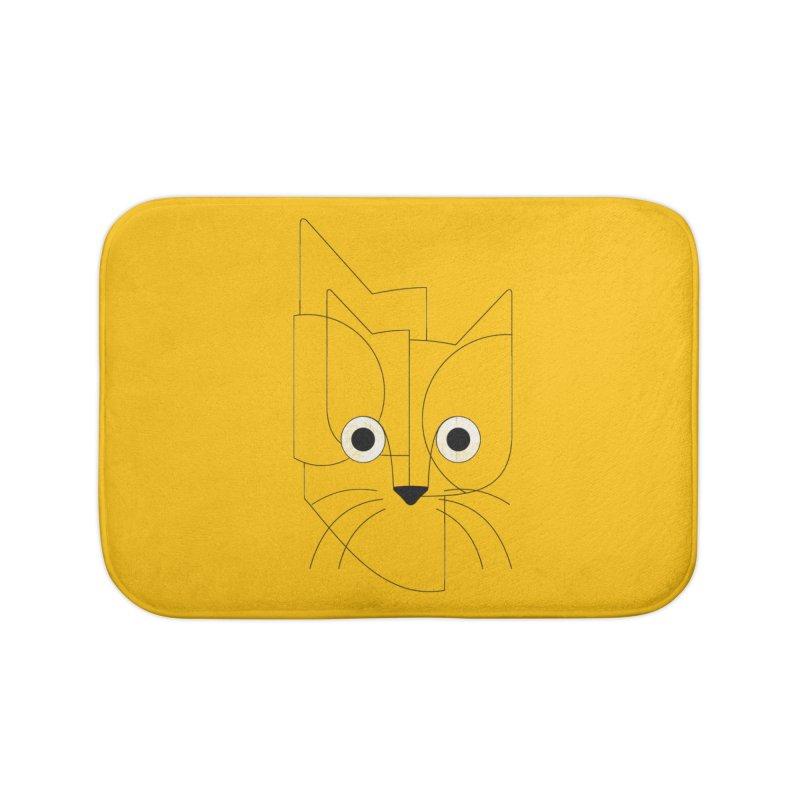 Curious Cat Home Bath Mat by bulo