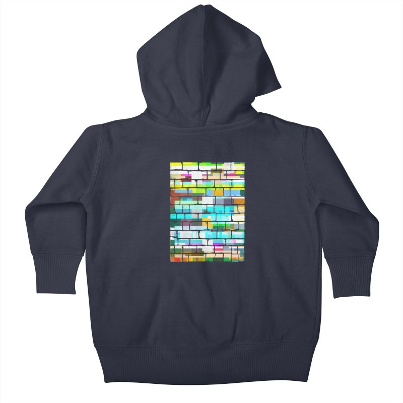 Glitchy Wall Kids Baby Zip-Up Hoody by bulo