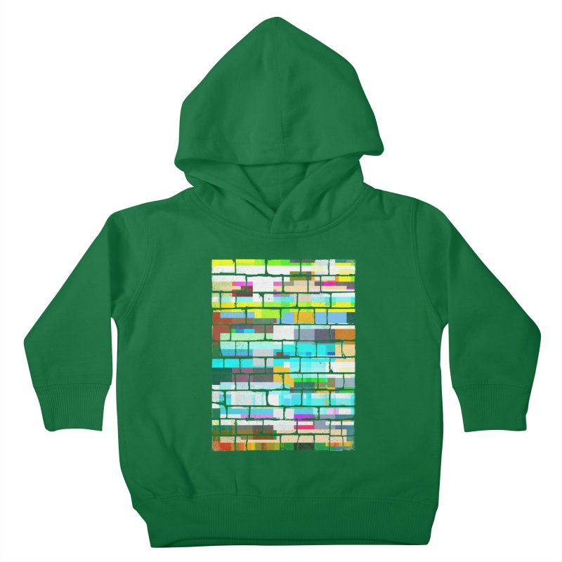 Glitchy Wall Kids Toddler Pullover Hoody by bulo