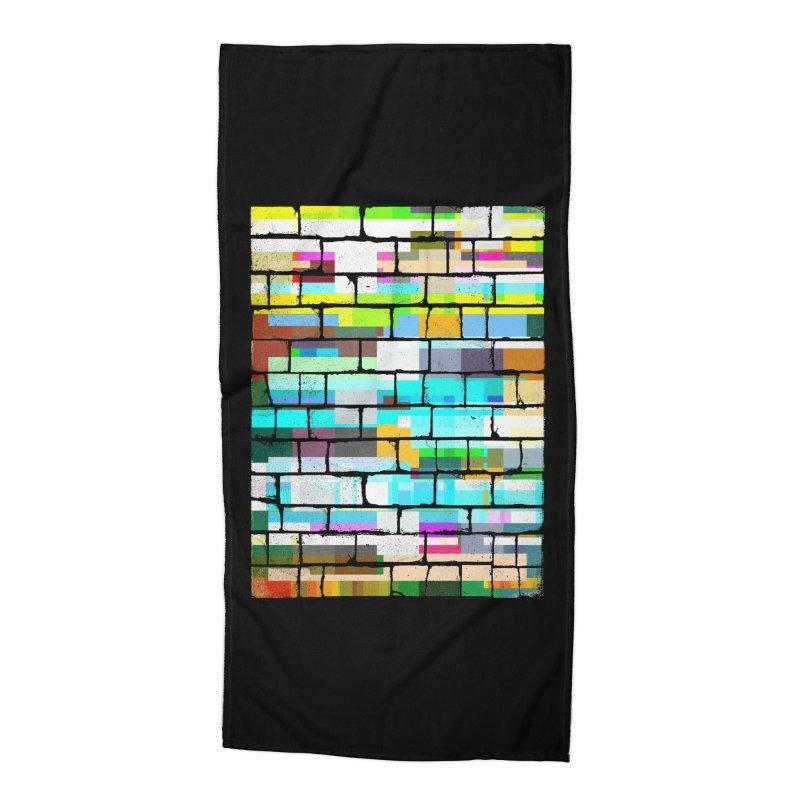 Glitchy Wall Accessories Beach Towel by bulo