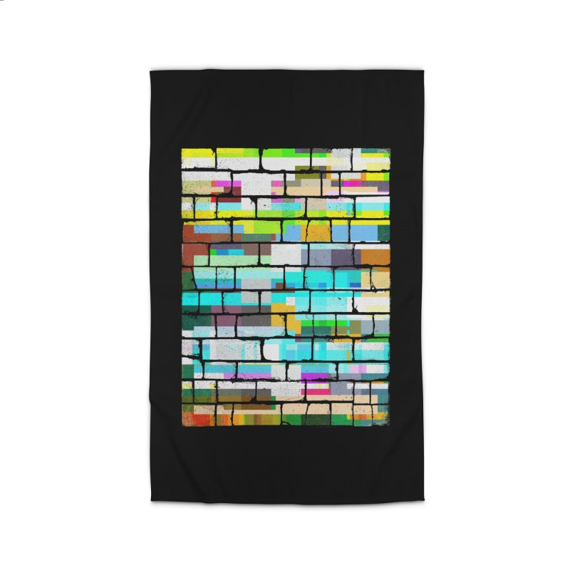 Glitchy Wall Home Rug by bulo