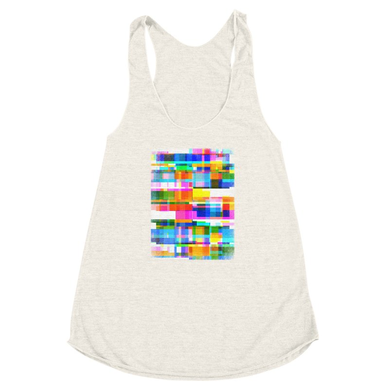 Colorful Dreams Women's Racerback Triblend Tank by bulo