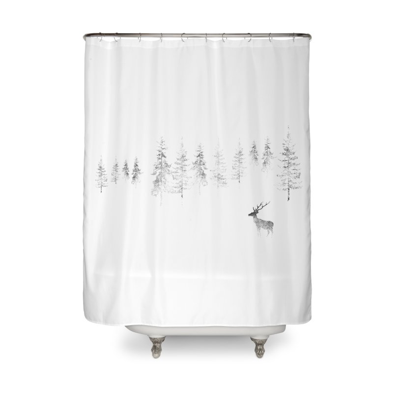 Misty Home Shower Curtain by bulo