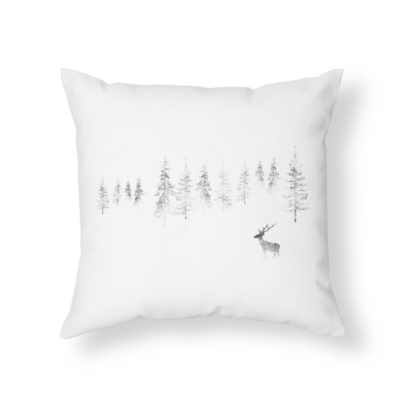 Misty Home Throw Pillow by bulo