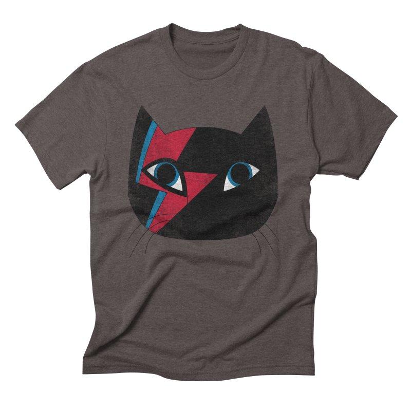 Starcat in Men's Triblend T-shirt Tri-Coffee by bulo