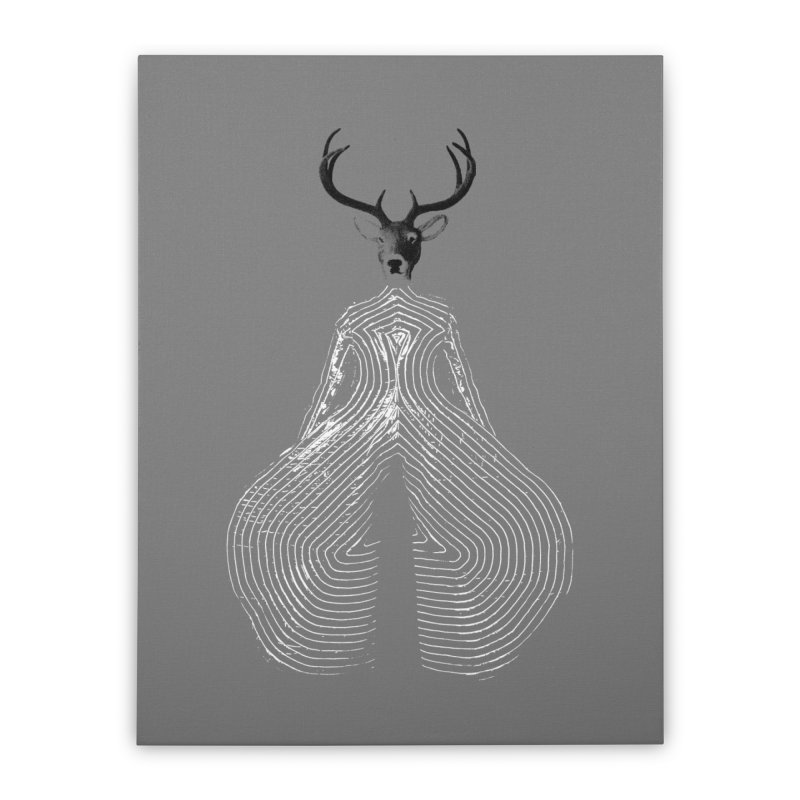 Deerbowie Home Stretched Canvas by bulo