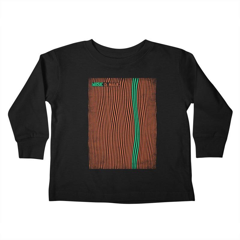 Music Kids Toddler Longsleeve T-Shirt by bulo