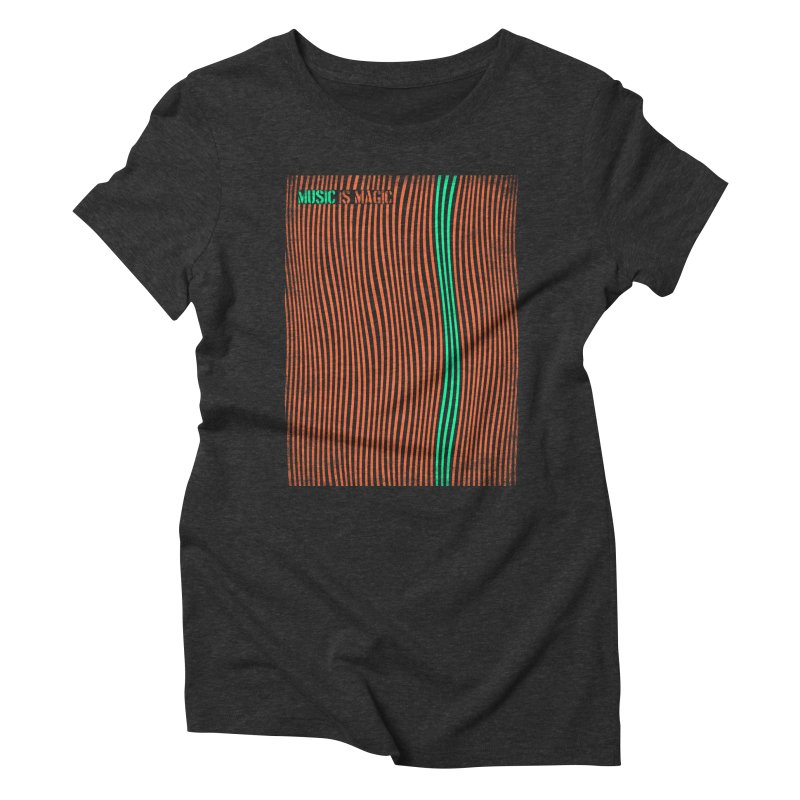 Music Women's Triblend T-shirt by bulo