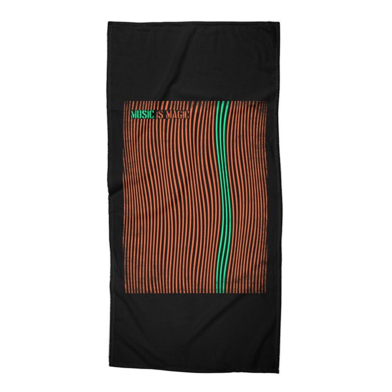 Music Accessories Beach Towel by bulo