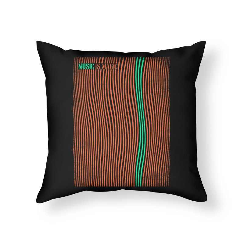 Music Home Throw Pillow by bulo