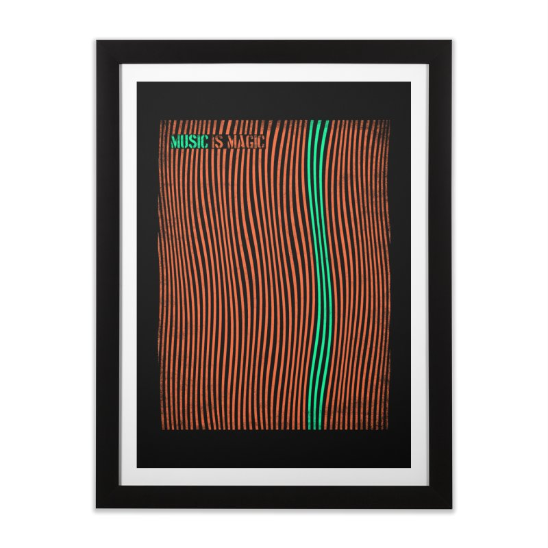 Music Home Framed Fine Art Print by bulo