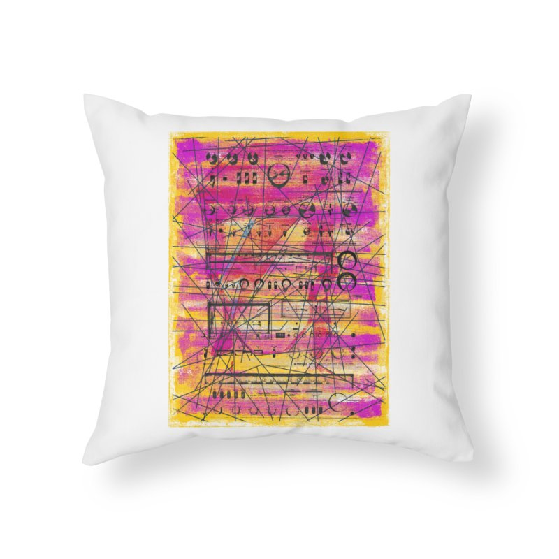 Hifidelity Home Throw Pillow by bulo