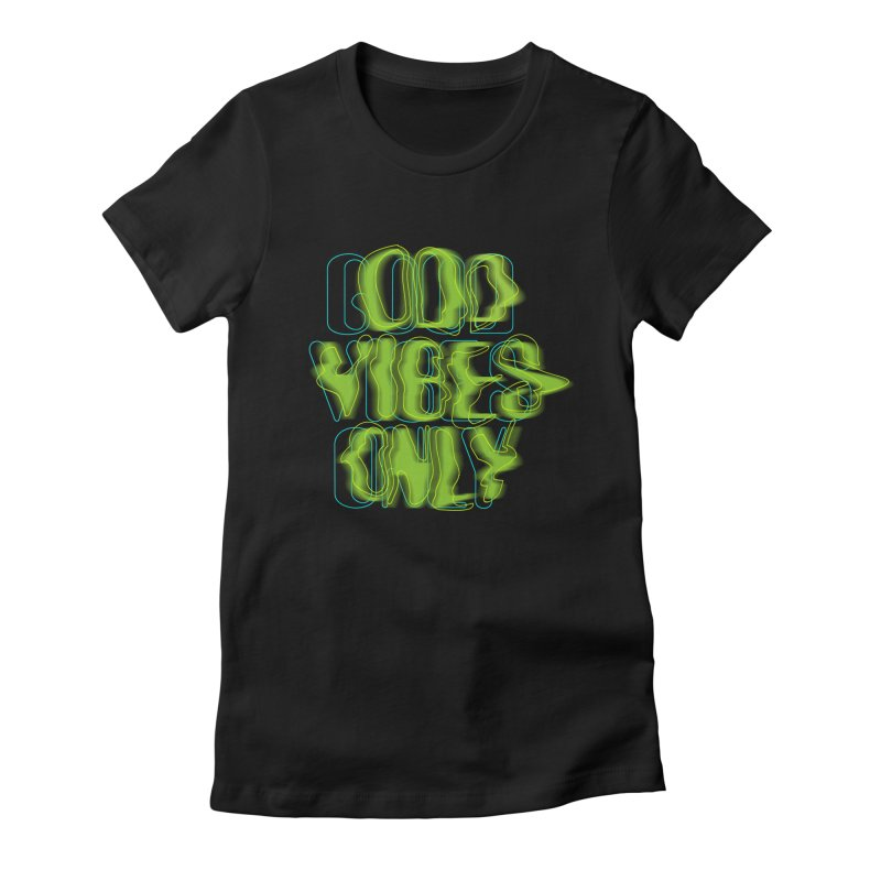Odd vibes only Women's Fitted T-Shirt by bulo