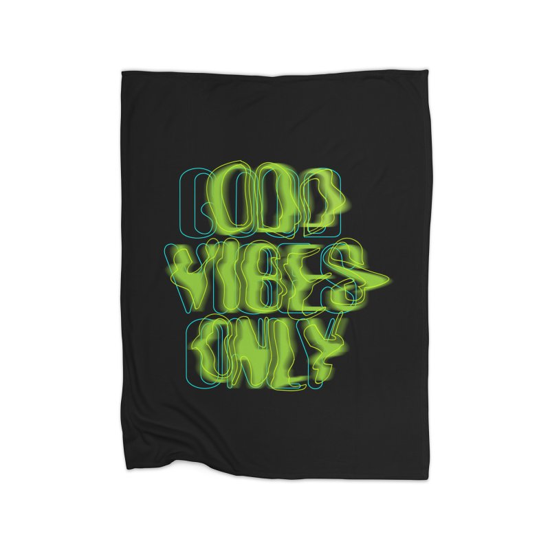 Odd vibes only Home Fleece Blanket by bulo