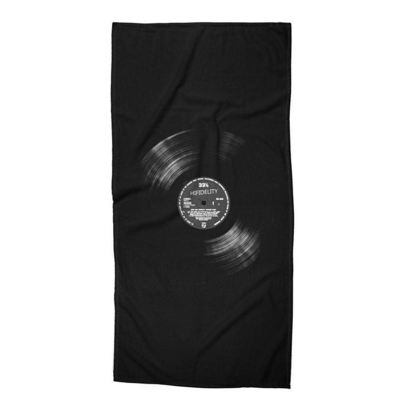 Vinyl Accessories Beach Towel by bulo
