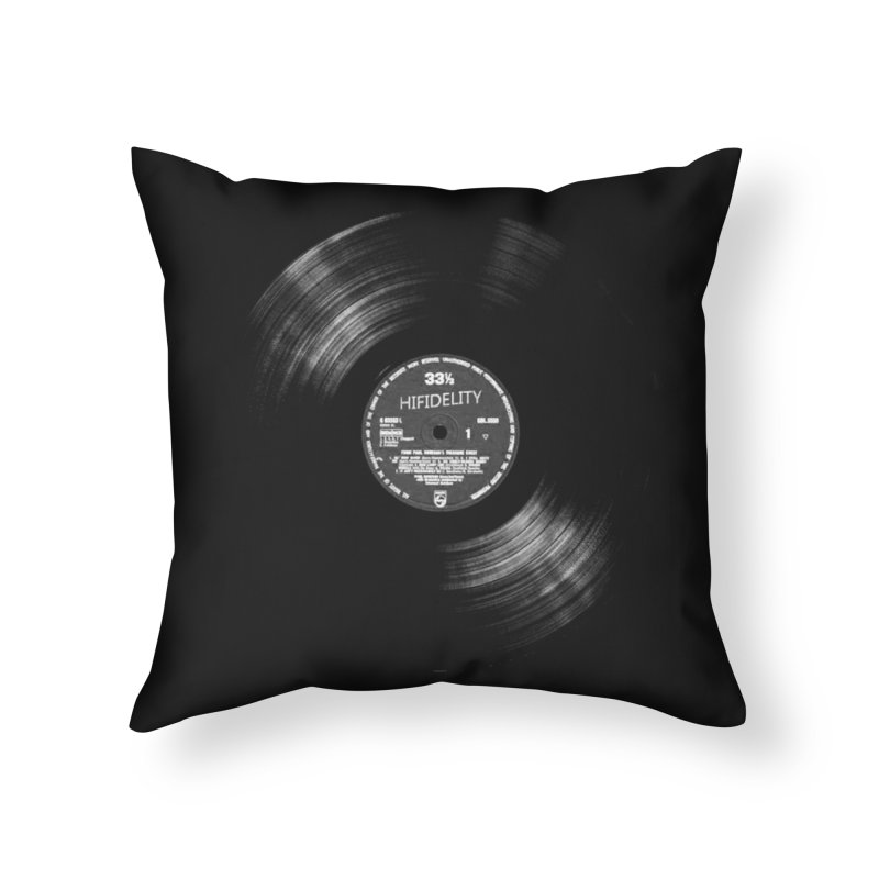 Vinyl Home Throw Pillow by bulo