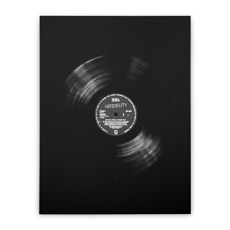 Vinyl Home Stretched Canvas by bulo