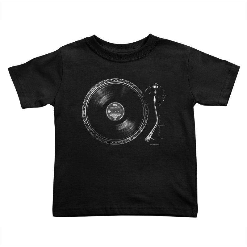 Turntable Kids Toddler T-Shirt by bulo