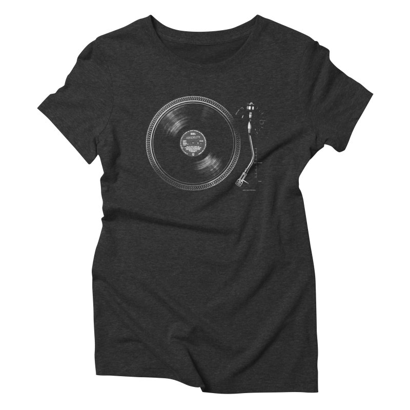 Turntable Women's Triblend T-shirt by bulo