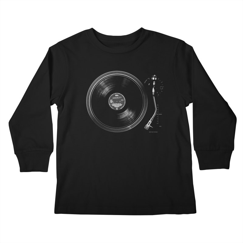 Turntable Kids Longsleeve T-Shirt by bulo