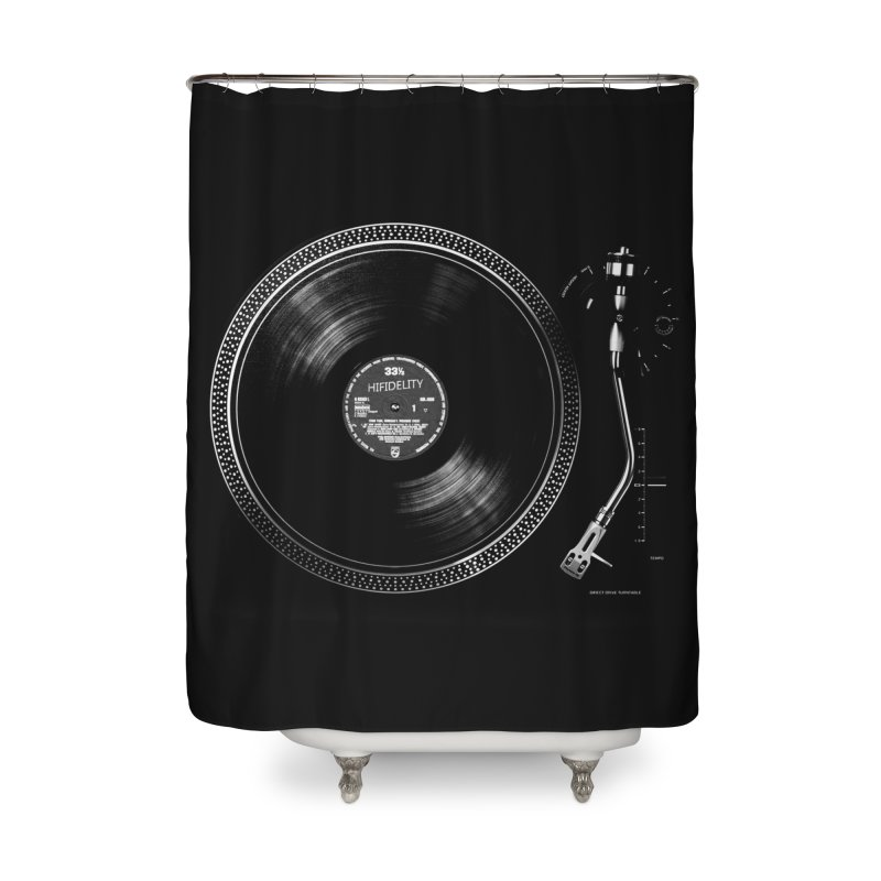 Turntable Home Shower Curtain by bulo