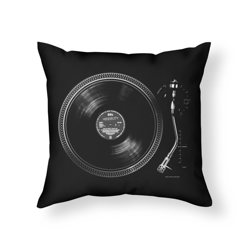 Turntable Home Throw Pillow by bulo