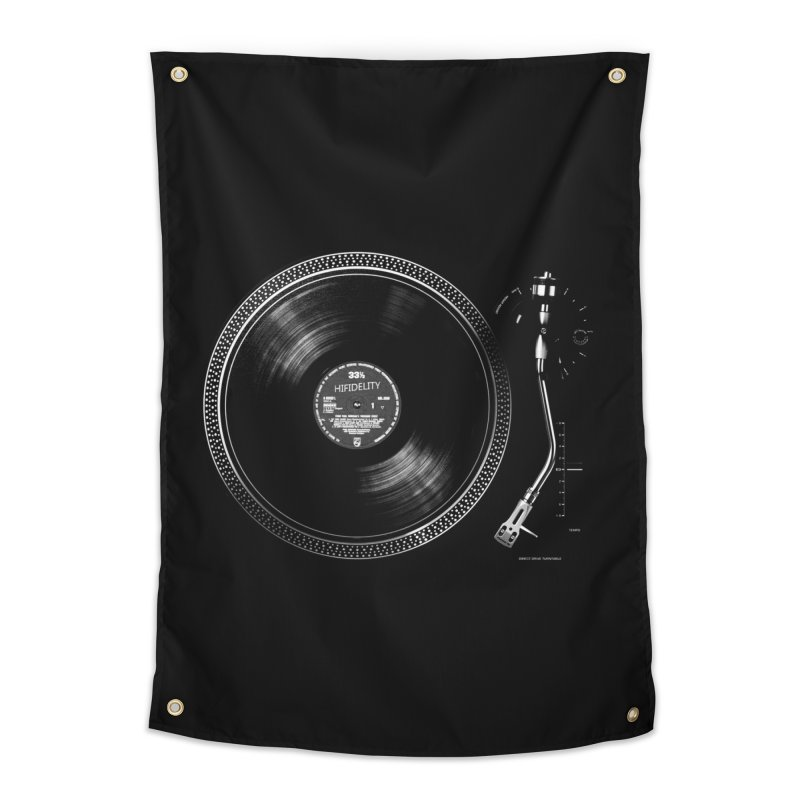 Turntable Home Tapestry by bulo