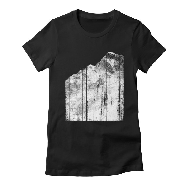Mountain Women's Fitted T-Shirt by bulo
