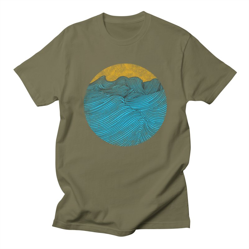 Wavy in Men's Regular T-Shirt Olive by bulo