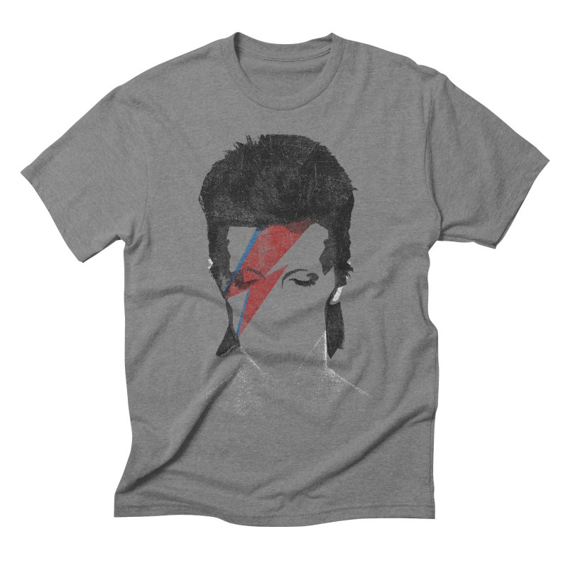 Starman in Men's Triblend T-shirt Grey Triblend by bulo