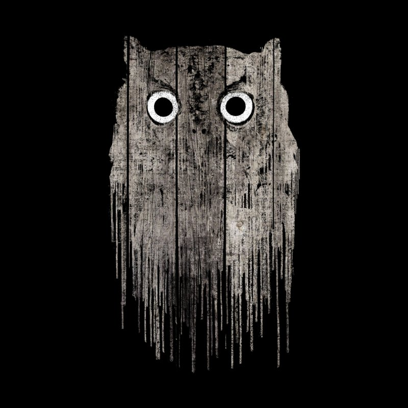 Wooden Owl Home Fine Art Print by bulo