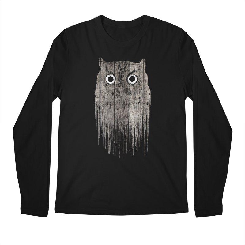 Wooden Owl Men's Longsleeve T-Shirt by bulo