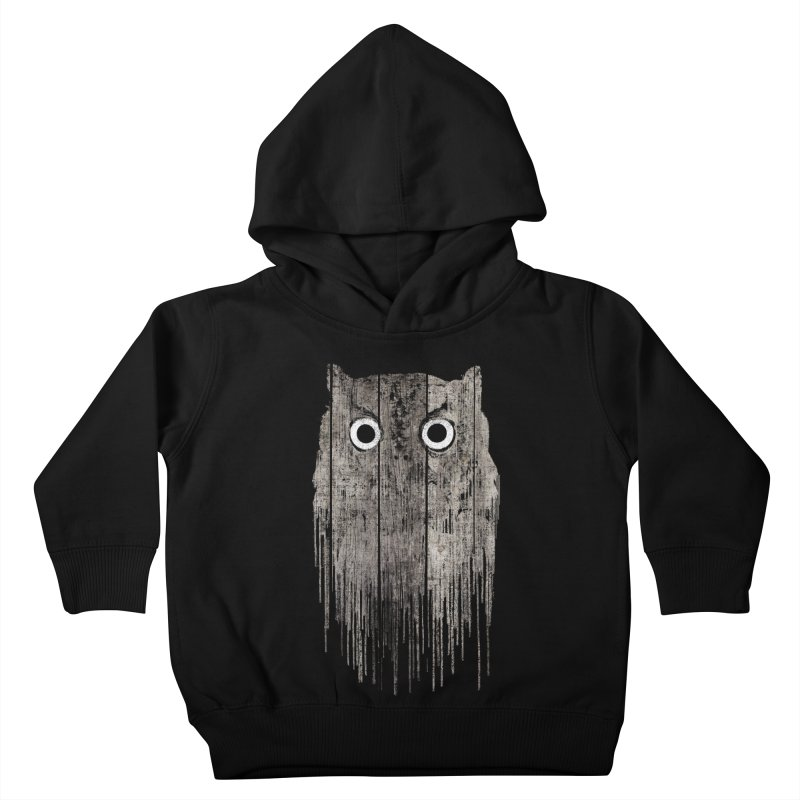 Wooden Owl Kids Toddler Pullover Hoody by bulo