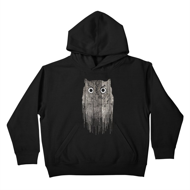 Wooden Owl Kids Pullover Hoody by bulo