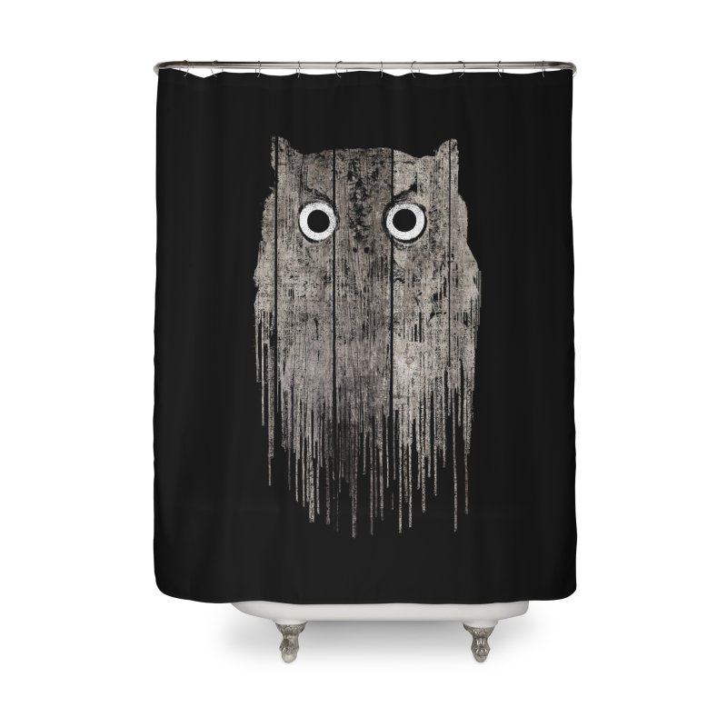 Wooden Owl Home Shower Curtain by bulo