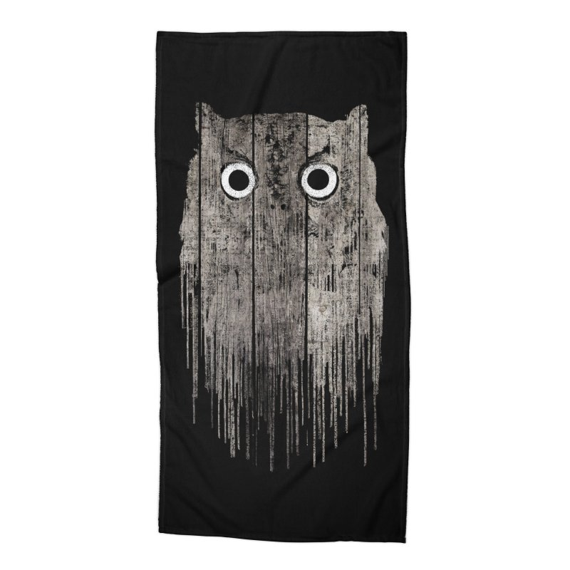 Wooden Owl Accessories Beach Towel by bulo