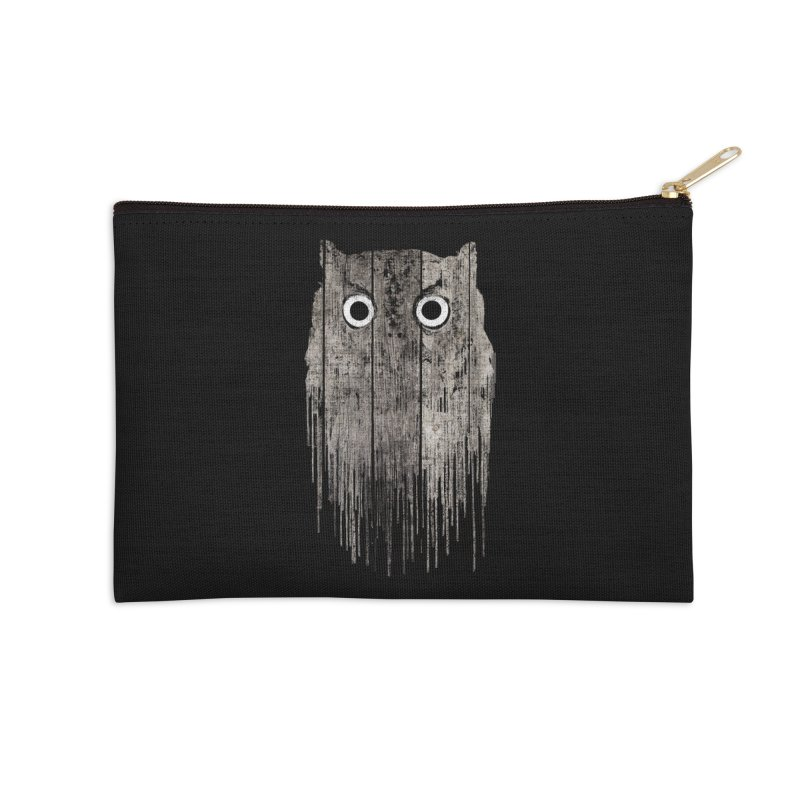 Wooden Owl Accessories Zip Pouch by bulo