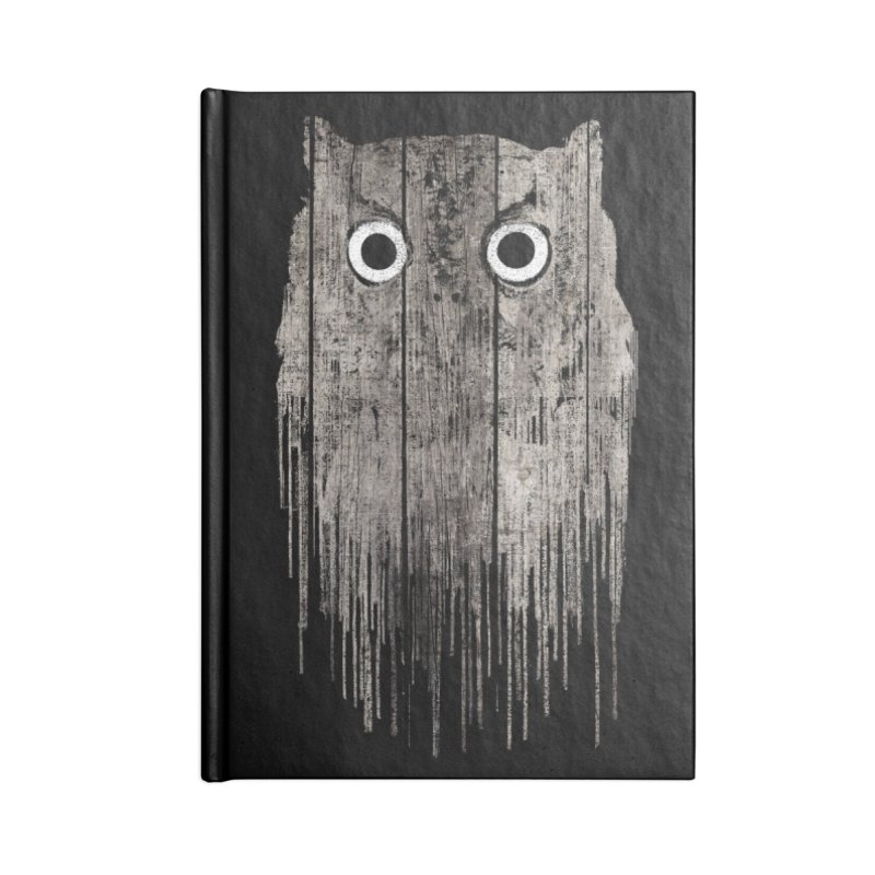 Wooden Owl Accessories Notebook by bulo