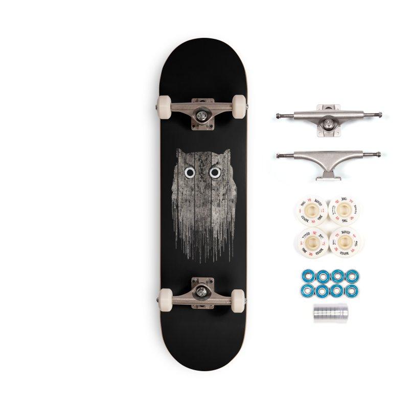 Wooden Owl Accessories Skateboard by bulo