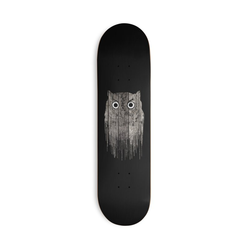 Wooden Owl Accessories Skateboard by bulo