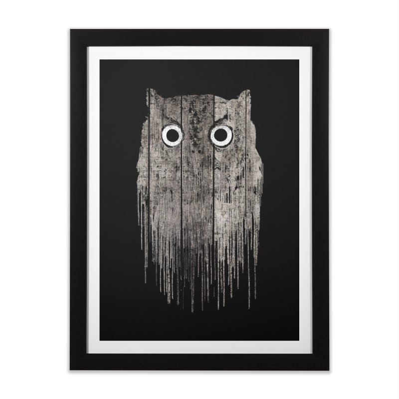 Wooden Owl Home Framed Fine Art Print by bulo