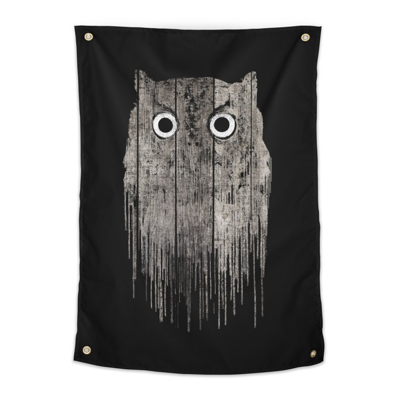 Wooden Owl Home Tapestry by bulo
