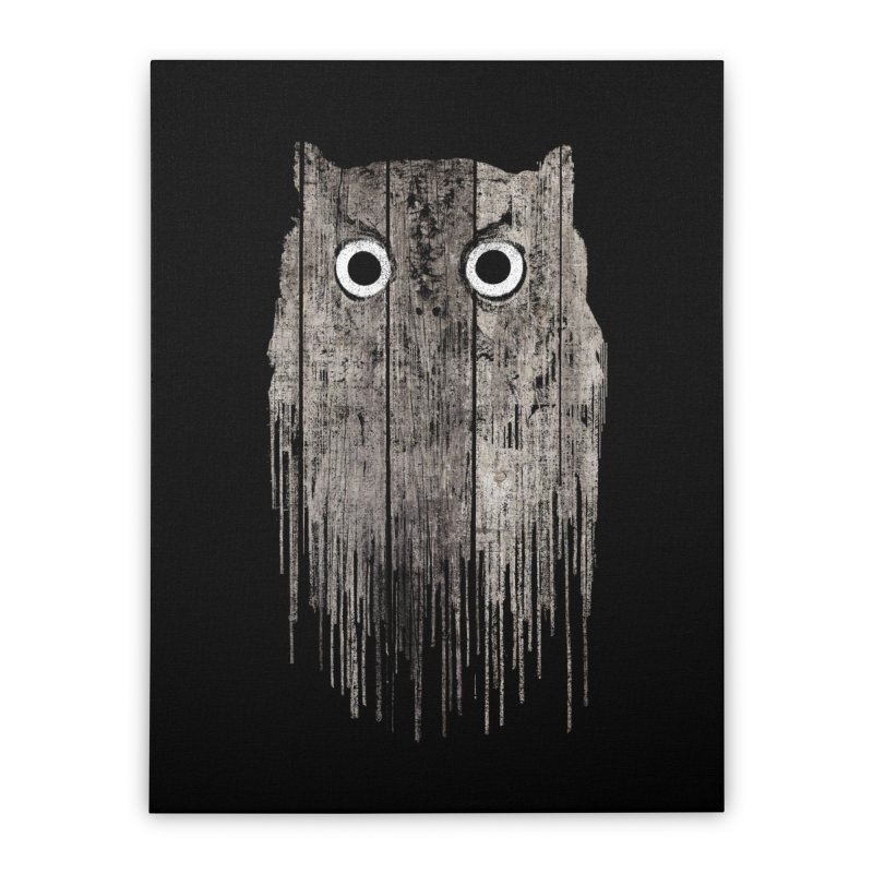 Wooden Owl Home Stretched Canvas by bulo